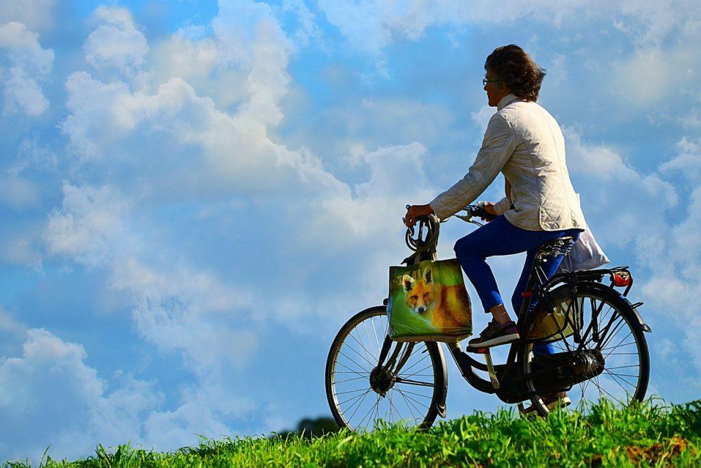 woman, person, cyclist